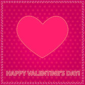 Valentine's day card with sewing valentine — Stock Vector