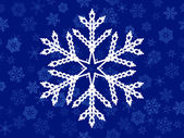 Vector seamless background of snowflakes — Stock Vector