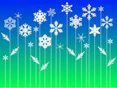 冬のベクトルの背景 — ストックベクタ