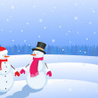 Christmas snowmans — Stock Photo #7601707