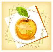 Kreslení jablko — Stock vektor