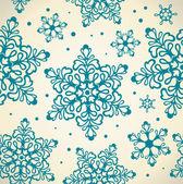 Modèle avec des flocons de neige — Vecteur