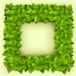 Royalty-Free Stock Vektorfiler: Frame of green leaves