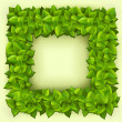 Royalty-Free Stock Imagen vectorial: Frame of green leaves