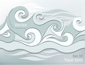 Stylized waves — Stock Vector