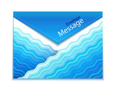 Envelope design with waves — Stockvector