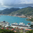 St Thomas harbor of US virgin islands — Stock Photo