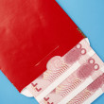 Red envelope — Stock Photo