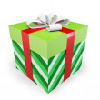 3d christmas gift box - Stock Photo