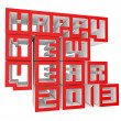 3d Happy New Year 2013 — Stock Photo