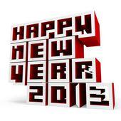 3d Happy New Year 2013 — Stock Photo