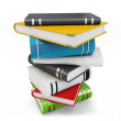 3d new pile of books — Stock Photo