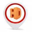 3d round pointer with hd symbol — Stockfoto