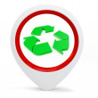 3d round pointer with recycle symbol — Stockfoto
