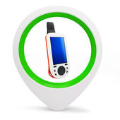 3d round pointer with gps device — Stock Photo