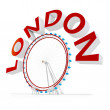 3d london eye symbol — Stock Photo