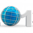3d year 2013 and globe symbol - Stock Photo
