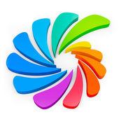 Forma abstracta colorido 3d — Foto de Stock
