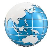 3d globe symbol of earth — Stock Photo