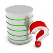 3d database server with red question mark — Stock Photo #21627537