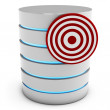 3d database server with target — Stock Photo #21627643