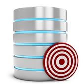 3d database server with target — Stock Photo