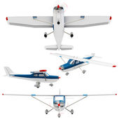 3d small plane collection — Stock Photo