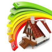 3d house Energy efficiency concept — Stock Photo