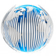 Royalty-Free Stock Photo: 3d earth globe with bars