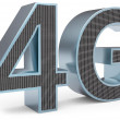 3d sign of 4G broadband — Stock Photo #27932207