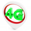 Stock Photo: 3d sign with 4G wireless technology