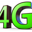 Stock Photo: 3d sign of 4G broadband
