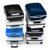 3d кучу чемоданы — Стоковое фото