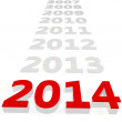 3d Happy New Year 2014 — Stock Photo