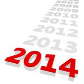 3d Happy New Year 2014 — Stock Photo