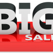 3d  big sale sign — Stock Photo