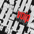 Stock Photo: 3d VOIP Wordcloud Internet Concept