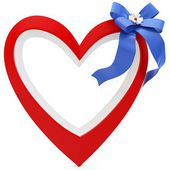 3d Heart with beautiful ribbon — Стоковое фото