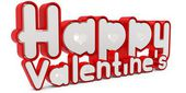 3d happy valentine's day — Stockfoto