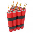 Stock Photo: 3d dynamite pack with fuse