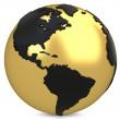 3d golden earth globe — Stock Photo #43775003