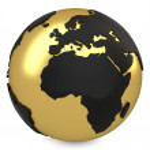 3d golden earth globe — Stock Photo #43775013
