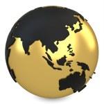 3d golden earth globe — Stock Photo #43775035