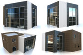 3d collection modern house — Stock Photo