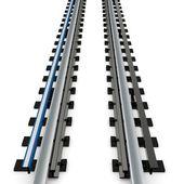 3d empty subway railway — Stock Photo