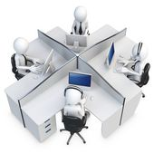 3d man support center — Stock Photo