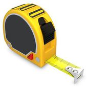 3d detailed tape measure — Stock Photo