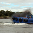 Fumes from a river shannon tug boat — Stock Photo