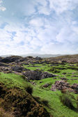 Ruin in irish rocky landscape — Stock Photo