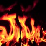 Blazing open fire flames — Stock Photo #20725265